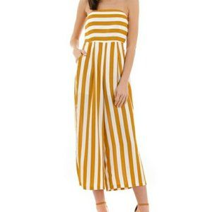 Petal Roz Yellow and White Striped Tube Ju…